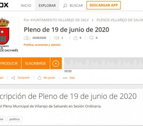 Audio Pleno Municipal del 19 de junio de 2020